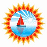 sailboat in sun