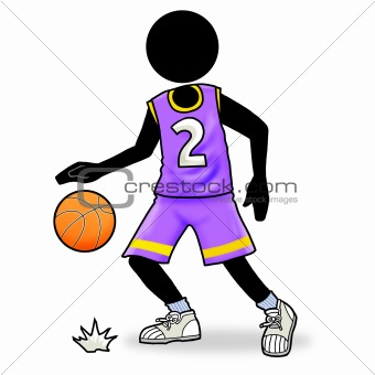 Basketball player icon