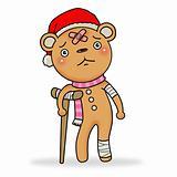 Sad gingerbread bear