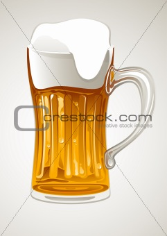 mug with gold beer