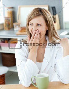 Charming woman with a cup