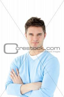 Attractive man smiling at the camera