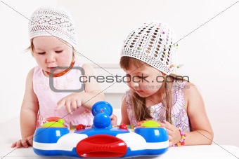 Adorable kids playing