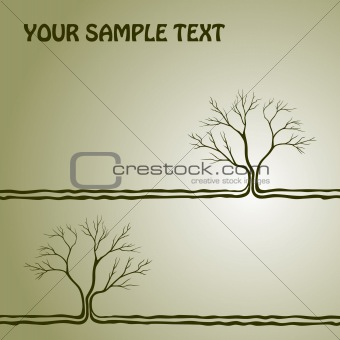 background with a tree