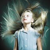 Little girl with magnificent hair