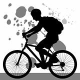 Teenager Riding Bicycle