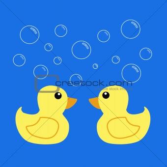 bathing ducks