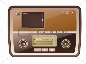 audio media player skin