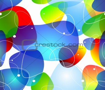 Abstract blobs water background, Vector