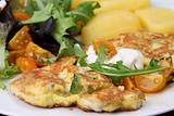Zucchini omelet