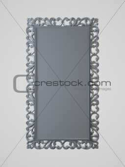 frame on the white