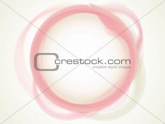 Abstract Pastel pink aqua circle