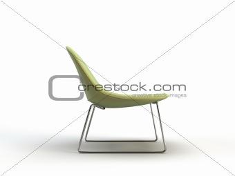 green modern chair