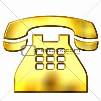 3D Golden Telephone