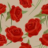 Seamless roses