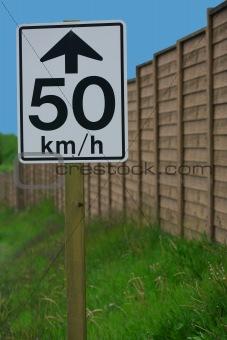 50 km/h sign