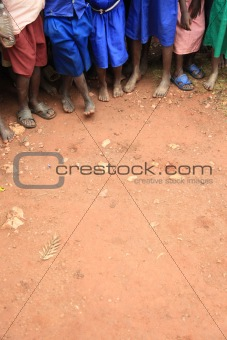 African Children's Feet
