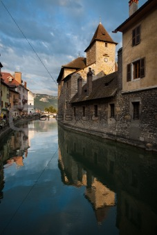 Annecy Canal Island Prison Rear