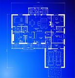 Architectural blueprint background. Vector