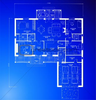 Architectural blueprint background. Vector