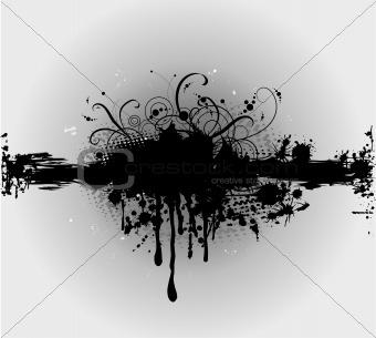 Grungy plaint or ink splatter. Vector