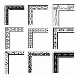 Corner ornament vector set
