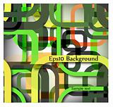 Colorful abstract background with line. Vector