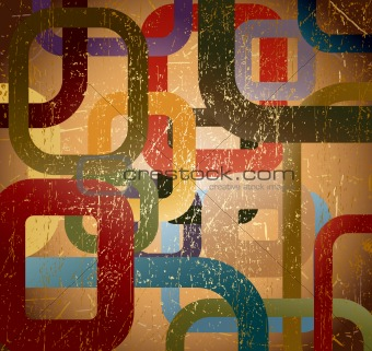 Abstract grunge square on brown background