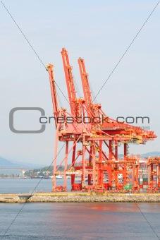 Waterfront Industrial Cranes