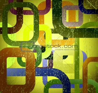 Abstract grunge square on green background