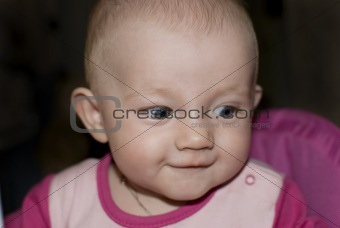 Portrait of cute funny Baby