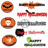 A set of Halloween graphics