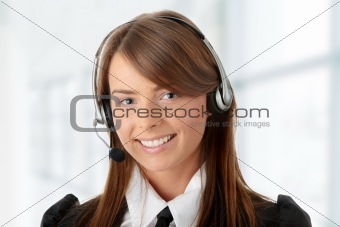 Beautiful Call Center Woman