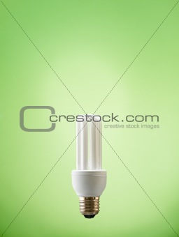 closeup of fluorescent light bulb
