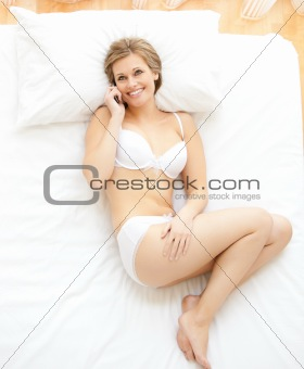 Attractive woman calling