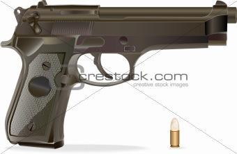 Vector  handgun.