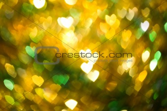 Abstract heart shaped blurry defocused pattern