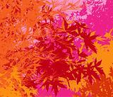 Colorful landscape of foliage - Vector pop illustration