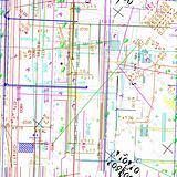 seamless vector simulating  blueprint