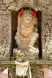 Statue of a god in Hindu temple