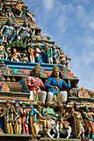 Gopuram (tower) of Hindu temple