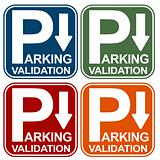 Parking Validation Sign