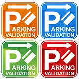 Parking Validation Ticket Sign