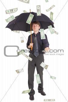 Businessman came under rain of money