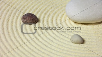 Abstract composition - stones on sand