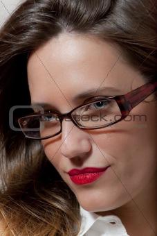 Woman with glasses, portrait