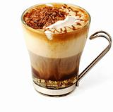 Coffee cocktail in glass cup