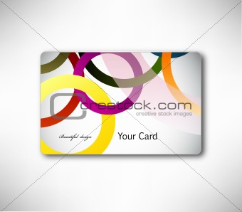 Abstract gift Card with colorful ring. Vector