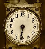 Old iron clock