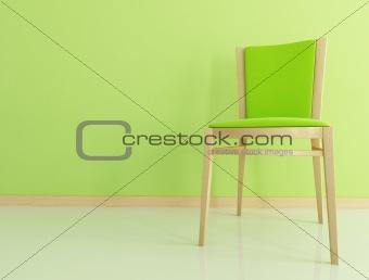 green wooden chair